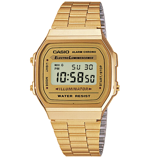 Casio Vintage A168WG-9VT Gold Gents Illuminator