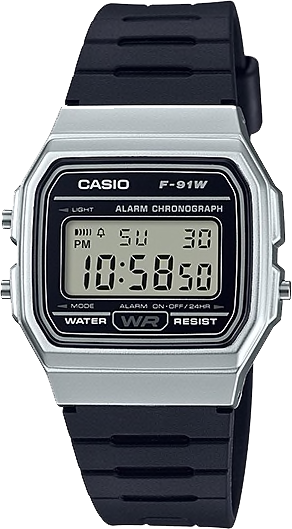 Casio Silver Gents Classic w/ Resin Strap