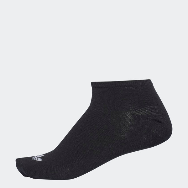 Adidas Trefoil Liner Socks - 3 Pair Black/ White