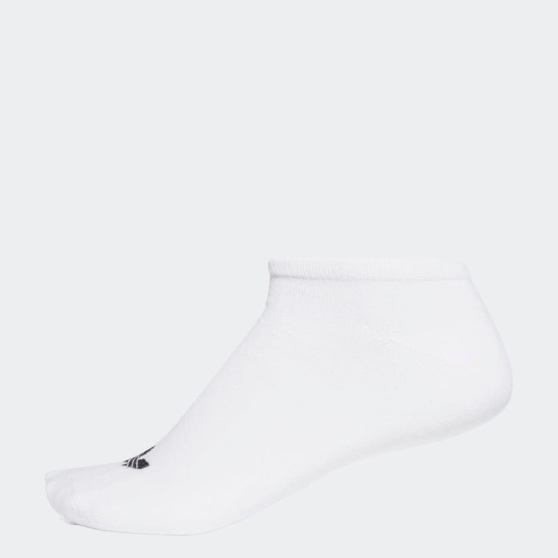 Adidas Trefoil Liner Socks - 3 Pair White/ Black
