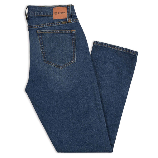 Brixton Reserve 5-Pocket Pant Standard Fit - Worn Denim