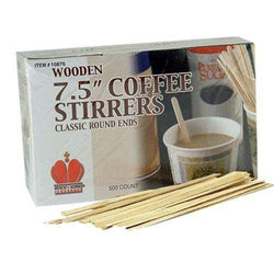 7 1/2 Inch Wooden Stirrer by PolyKing