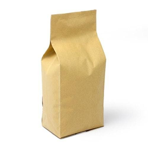 5 lb. Foil Gusseted Coffee Bags with Valve - TAN KRAFT