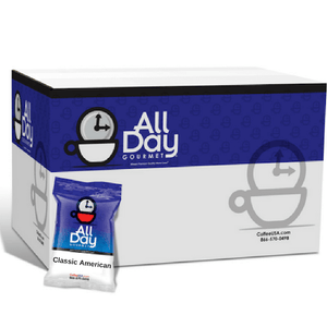 All Day Gourmet Coffee - Classic American Roast - 1.25oz Pillow Packs - Coffee Wholesale USA