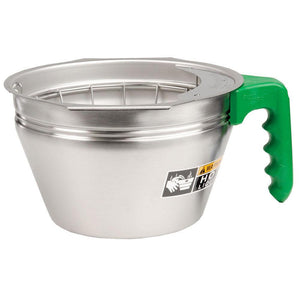 Bunn Stainless Steel Funnel with Green Handle - For Dual SH [32643.0007] - Coffee Wholesale USA