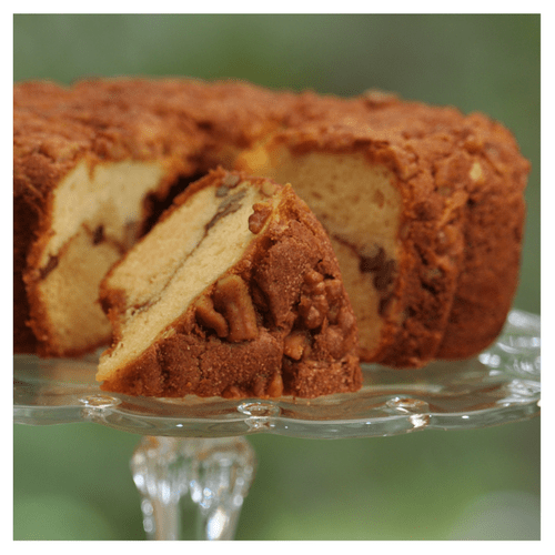 Cinnamon Walnut Coffee Cake for Soldiers and First Responders