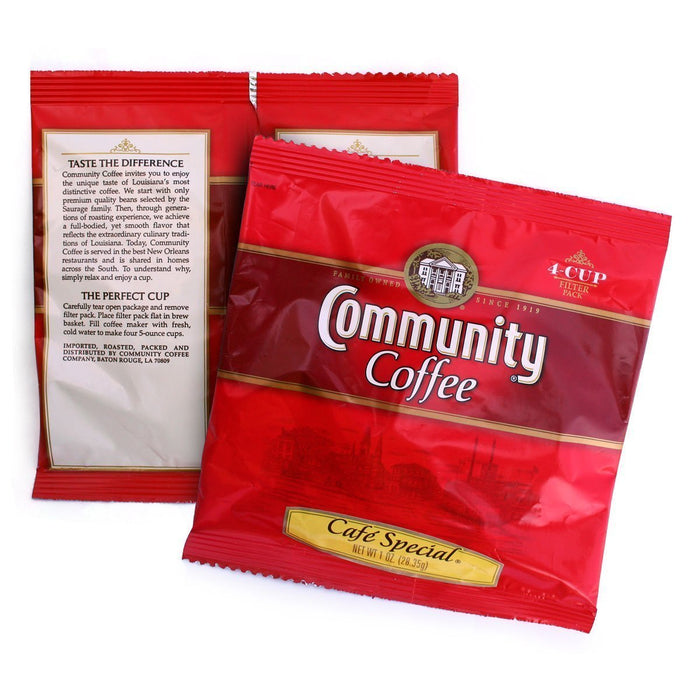 Community Coffee - 4 Cup Hotel Filter Packs - Cafe Special 1 oz. - 120 count