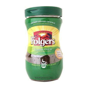 Folgers Instant Freeze Dried Coffee - Classic Roast DECAF - 8oz Jar