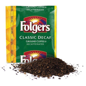 Classic Decaf ground decaffinated coffee pack| Folger