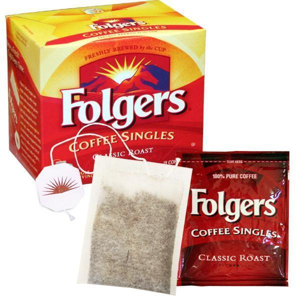 Folgers Single Cup Coffee Bags - Regular