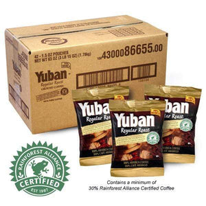 ground coffee regular roast by Yuban -1.5oz box pack