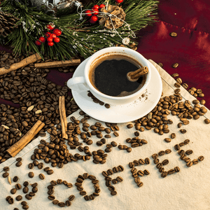 All day gourmet - Fresh roasted coffee spirit -Santa's Holiday spirit