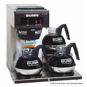 Bunn VP17-3 Pourover Coffee Brewer - Low Profile - Stainless - Coffee Wholesale USA