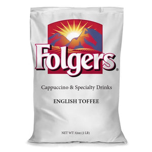 Folgers Cappuccino Mix - English Toffee - 2lb Bulk Pack - Coffee Wholesale USA