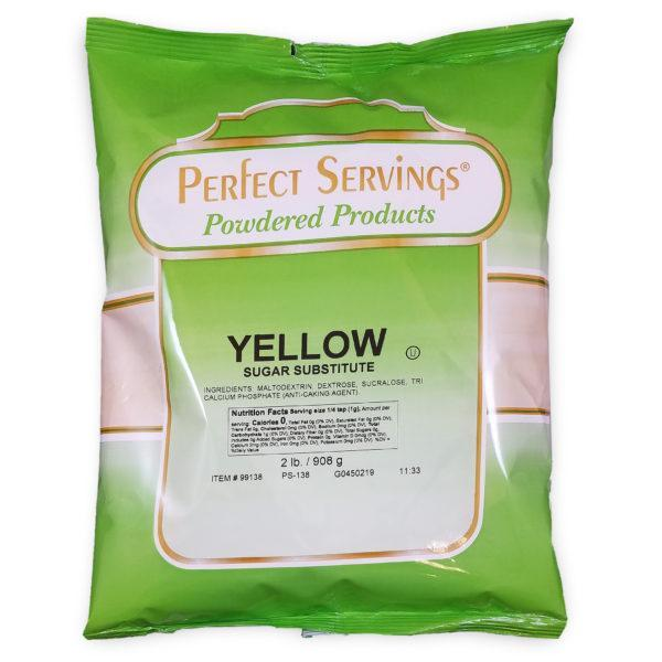 Perfect Servings Yellow Bag - 3 - 2 lb. Bags Per Case