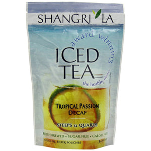 Shangri-La Iced Tea - Tropical Passion Decaf - 0.5oz Filter Pouch - 6ct Bag - Coffee Wholesale USA