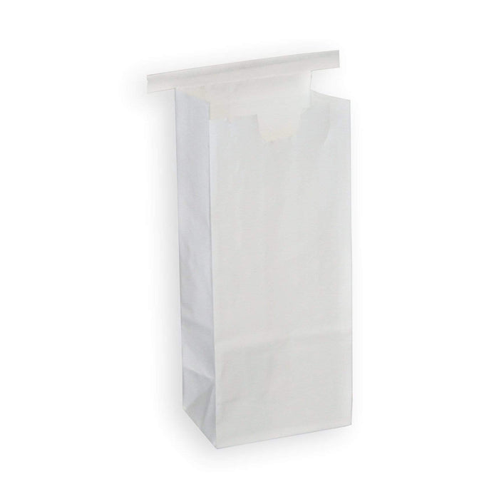 Half Pound Coffee Bags with Tin Ties - WHITE