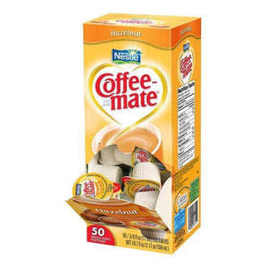 Coffee-mate Liquid Creamer Tubs - Hazelnut - 50ct Box
