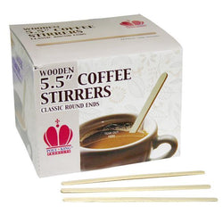 5.5 Inch Wooden Stirrers by PolyKing Stir Sticks - Coffee Wholesale USA
