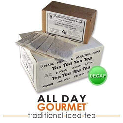 All Day Gourmet Traditional Iced Tea - 1.00oz FilterPacks - DECAF - 50ct Box