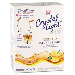 Crystal Light Drink Mix - Iced Tea (with Lemon) - On The Go Sticks - 30ct - Coffee Wholesale USA