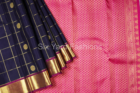 Kanjeevaram Silk Saree Half and Half