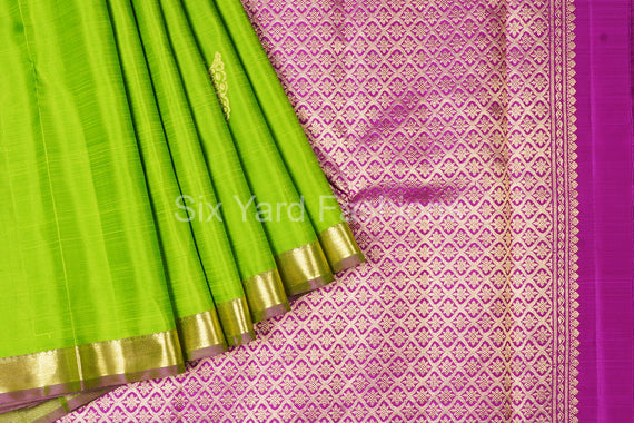 Pure Kanjeevaram Silk Saree with Butterfly Butta
