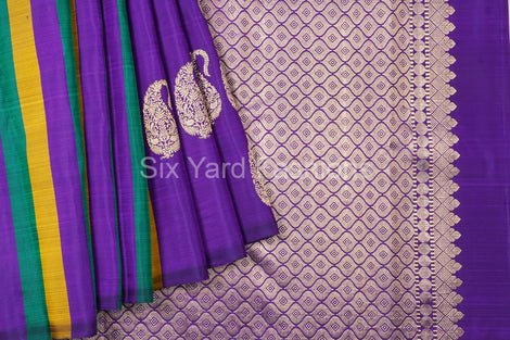 Kanjeevaram Silk Saree Multi colored