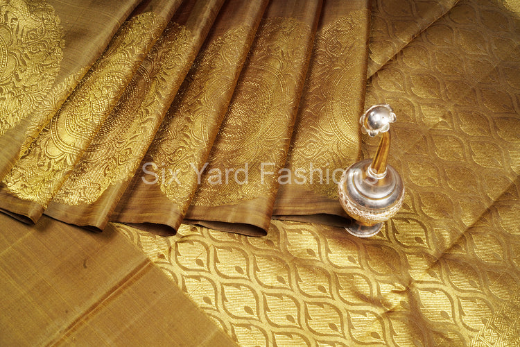 Kanjeevaram Silk Saree with Chakra Border