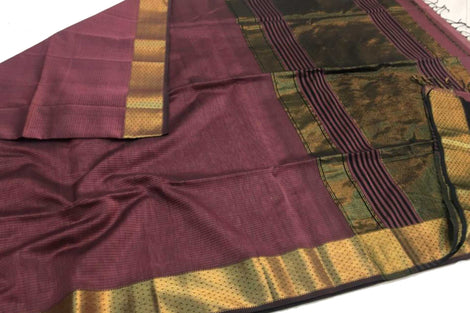 Pure Maheshwari Chatai Border Saree