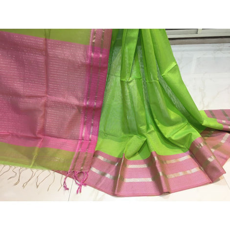 Pure Maheshwari Silk Saree