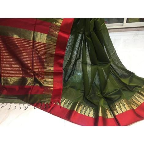 Maheshwari Tower Border Saree