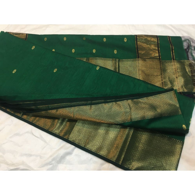 Maheshwari Scott Border Buti Saree