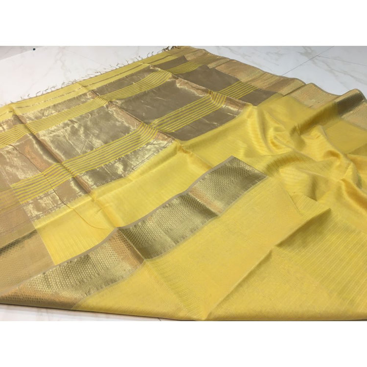 TISSUE JARI CHEX Saree