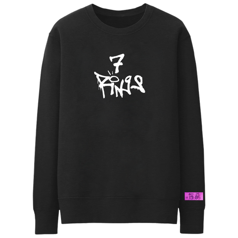 7 rings tag crewneck + digital album
