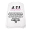 Dangerous Woman Tag White Crewneck