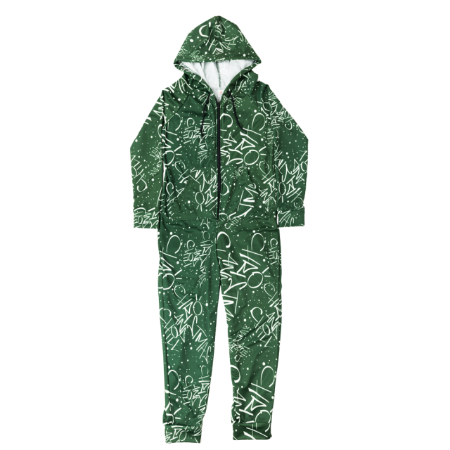 Christmas And Chill.Christmas And Chill Green Onesie