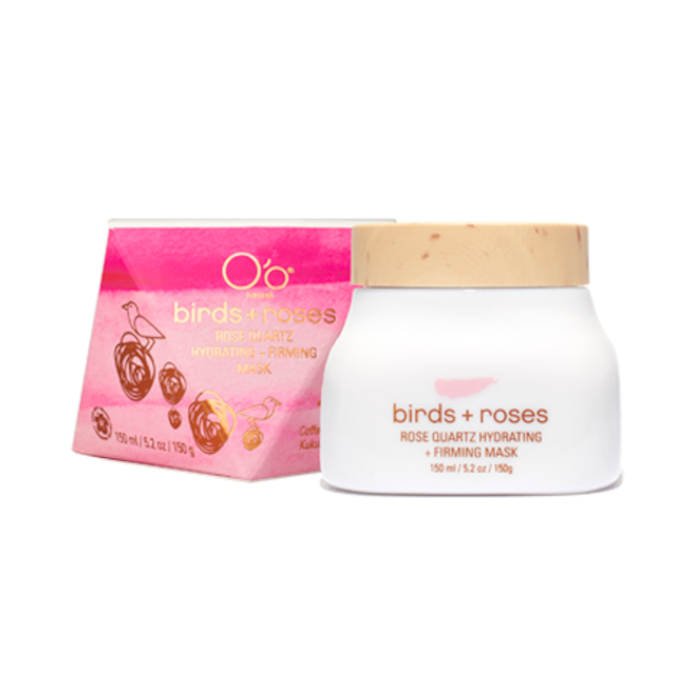 O'o HAWAII - birds + roses ROSE QUARTZ HYDRATING + FIRMING MASK