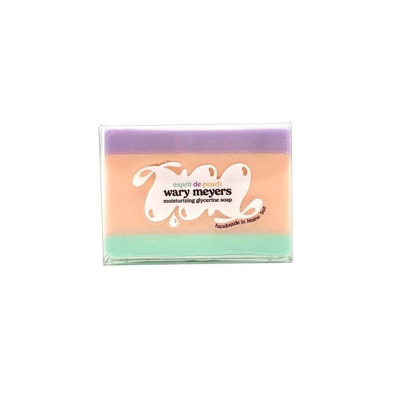 "WARY MEYERS - ""Esprit de Peach"" Glycerine Soap"