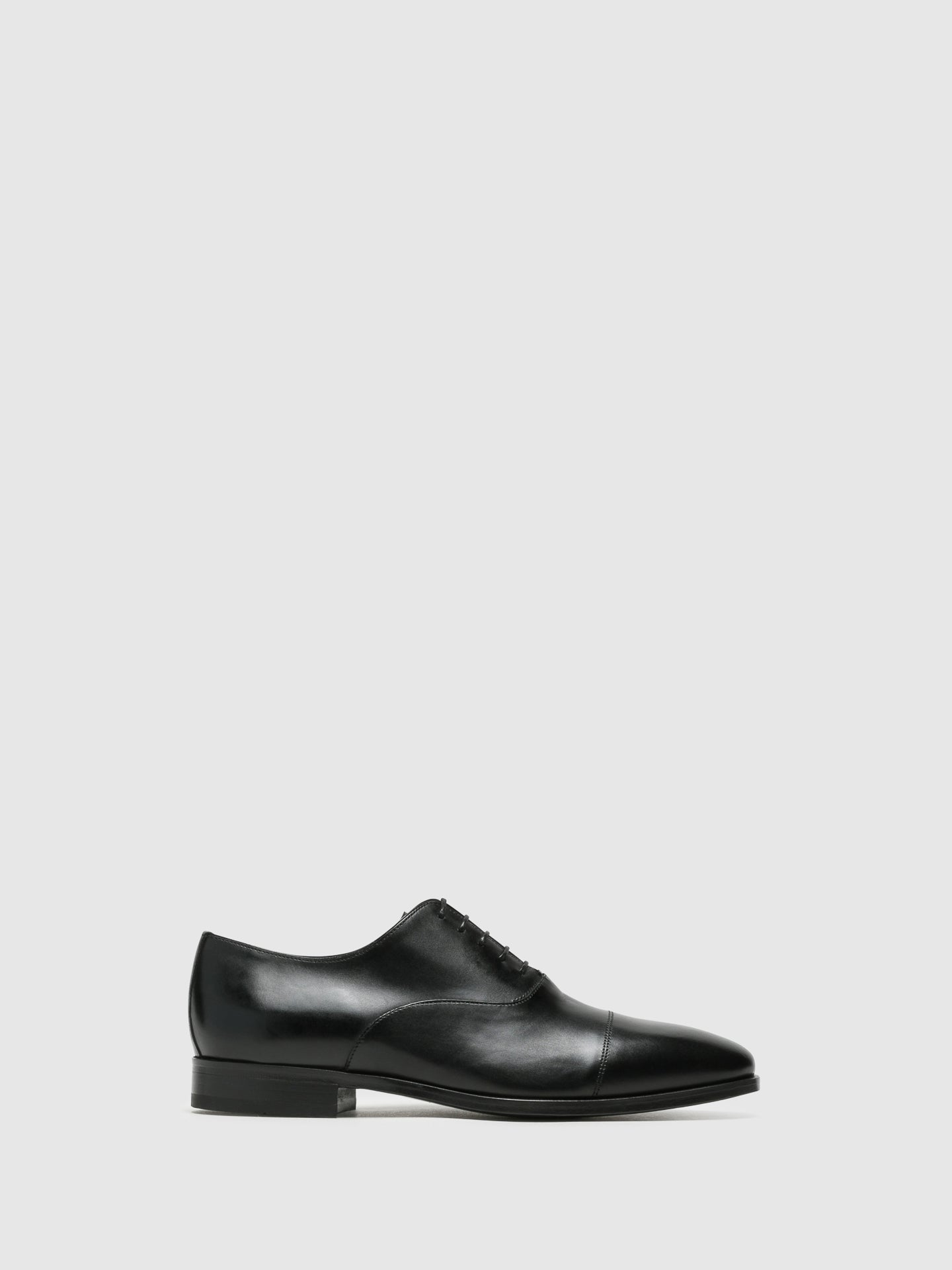 Armando Silva Black Lace-up Shoes