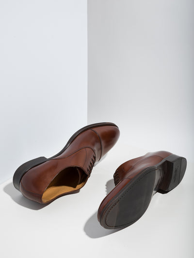 Armando Silva Brown Lace-up Shoes