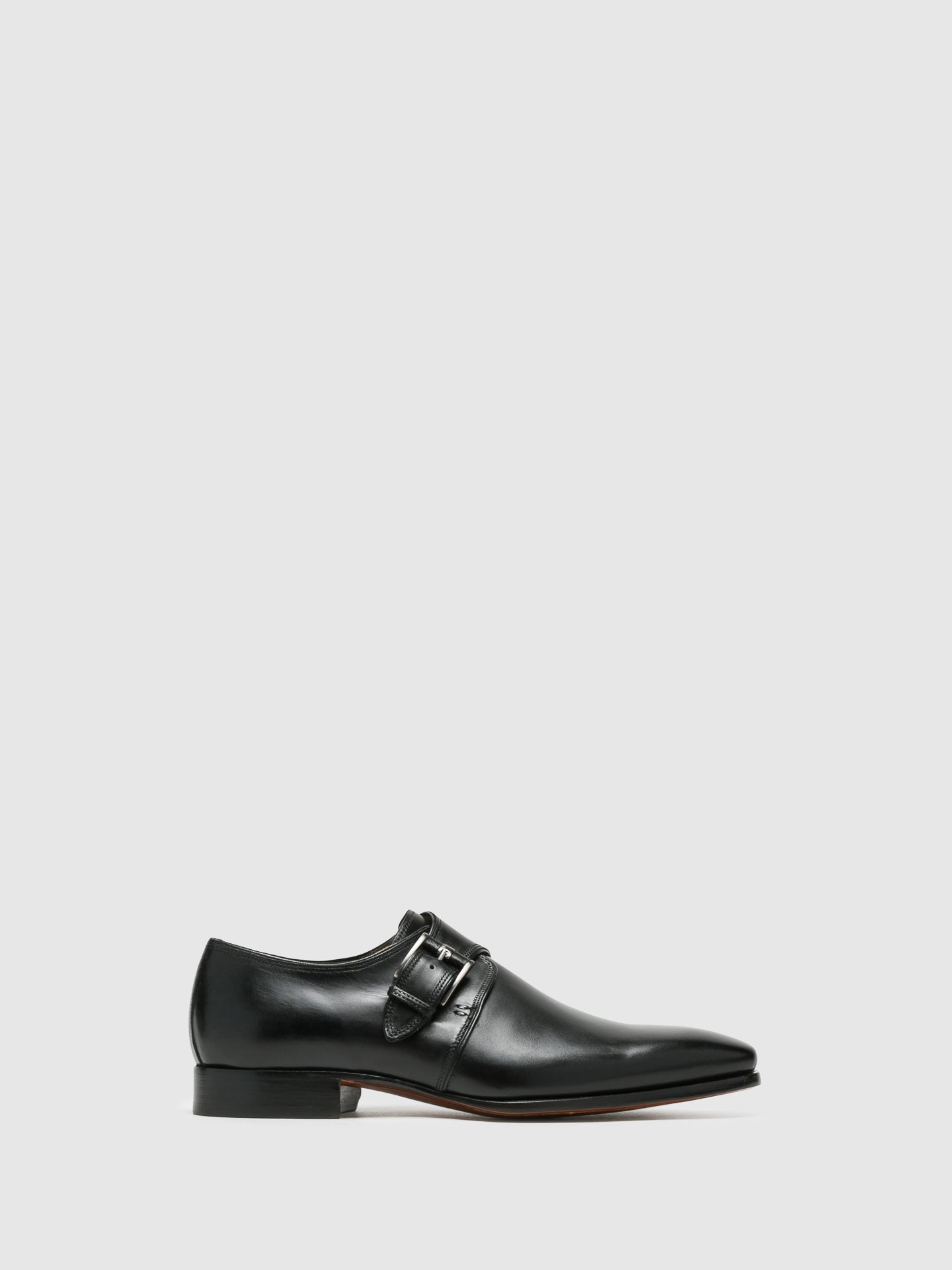Armando Silva Black Monk Shoes
