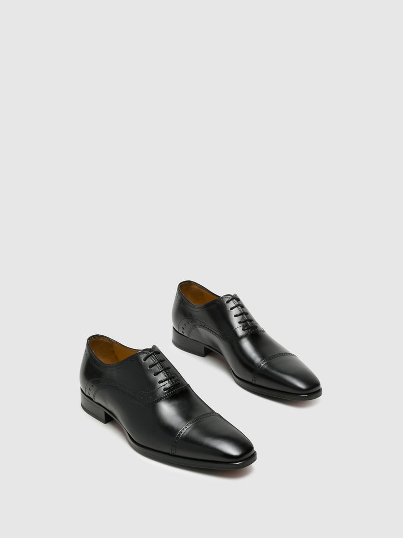 Armando Silva Black Oxford Shoes