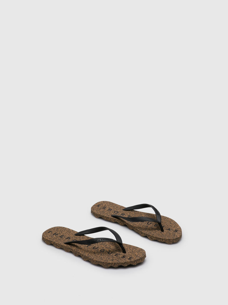 Coal Black Beach Flip-Flops