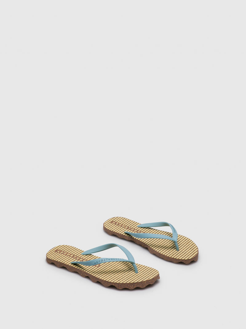 LightBlue Beach Flip-Flops