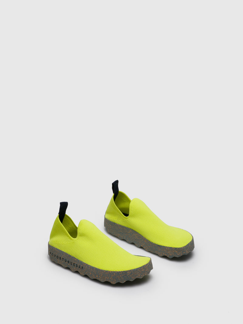 Lime Elasticated Trainers