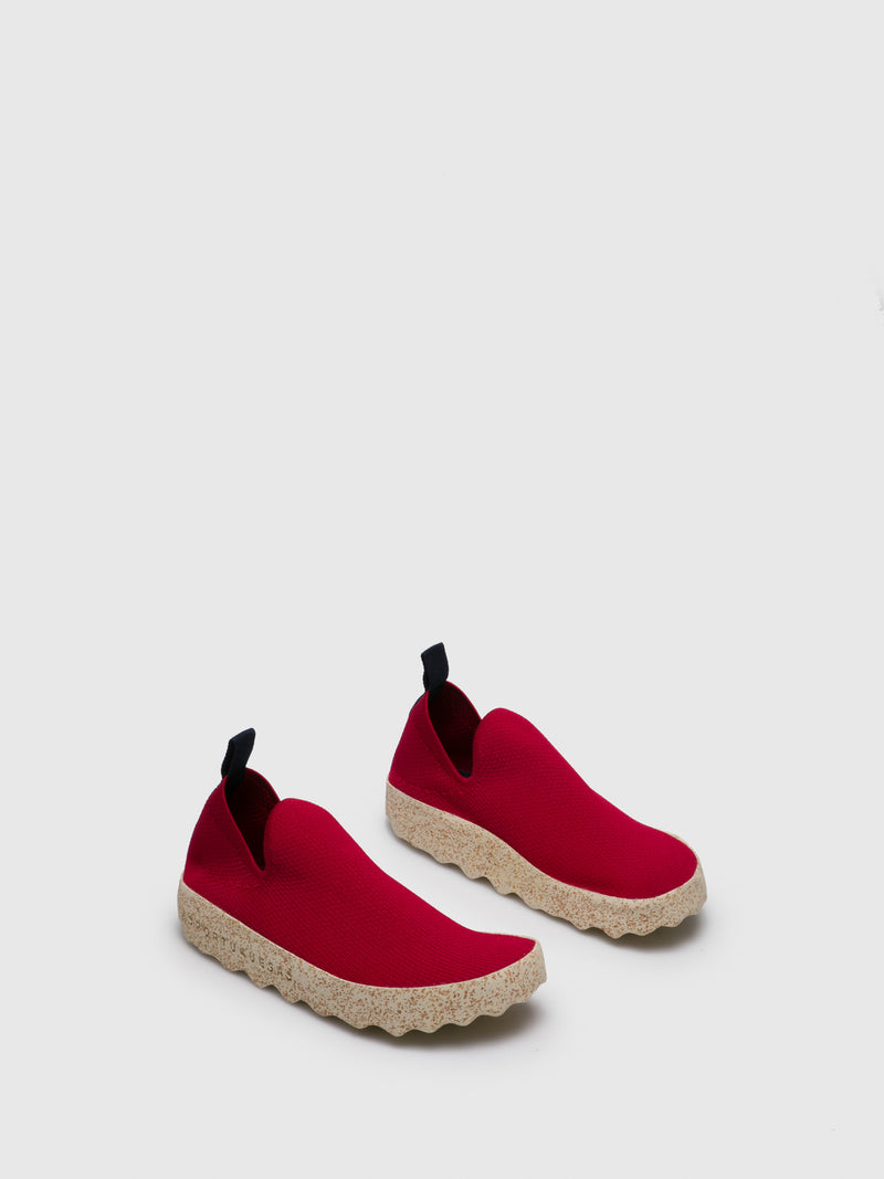 ASPORTUGUESAS Red Elasticated Trainers