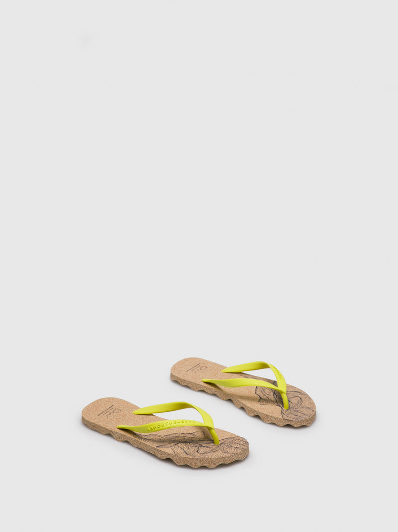 Yellow Beach Flip-Flops