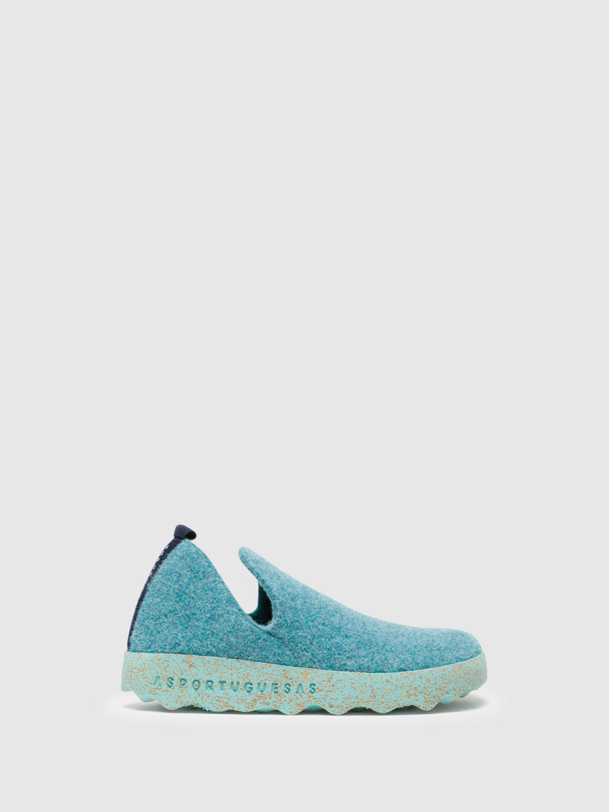 ASPORTUGUESAS LightBlue Round Toe Ankle Boots