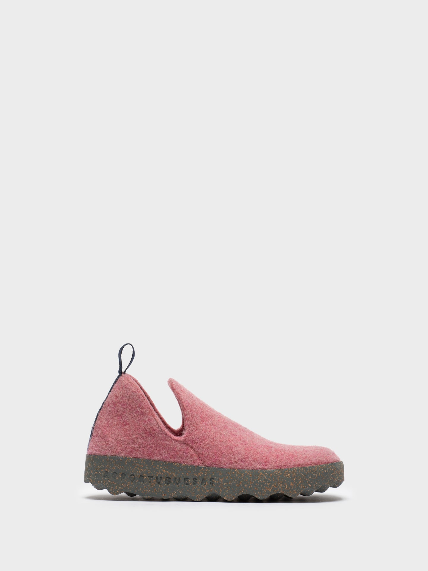 ASPORTUGUESAS Pink Round Toe Ankle Boots